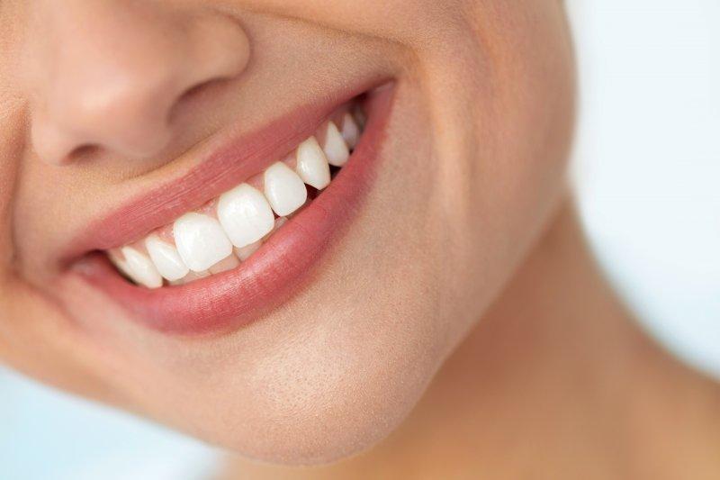closeup of white teeth